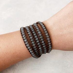 Chan Luu Light Blue Semi Precious Wrap Bracelet